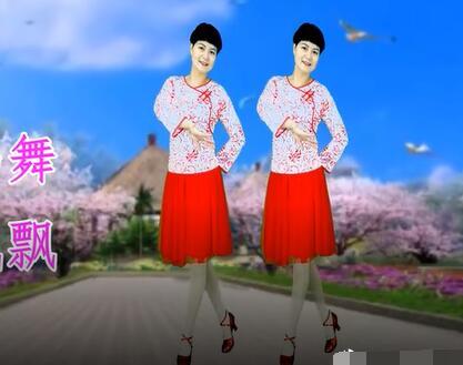广场舞爱爱爱你_爱之韵广场舞《你像三月桃花开》网红抒情优美 背面演示及分解 ...